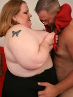 Blonde bbw filling her tight pussy with cock