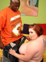 Huge bbw Candice Cane does a strip tease and enjoys interracial drilling in her pussy