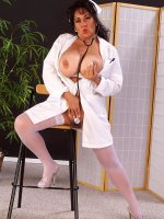 Ashley is your smoking hot bbw nurse ready to take your exam