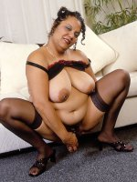 Bbw brunette Chula playing with her dildo and having naughty fun