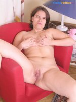 Charming fresh chubby gets rid of her lingerie