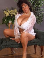 BBW Ashley looking amazing in this sexy white lingerie