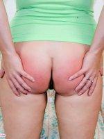 Hot teen fatty spanks herself till her ass is red