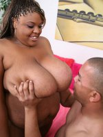 Big busty babe having a rough fuck from an ebony stud